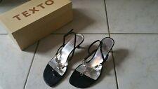 sandales nu pied TEXTO NOIRE PETIT TALON 37