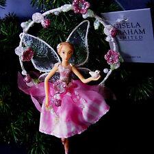 Weihnachten Engel Elfe Fee Gisela Graham Schutzengel Blumenbogen Karo-Kleid Rosa