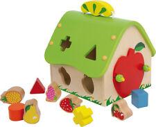 VILLA STECKFIGUR bunt Stapelfigur Haus für Kinder Holz Stapelsteine Baustein NEU Holzspielzeug