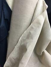 "Linen Cotton Gaze Dress Fabric Stiff Finish 60"" Wide Natural Colour £6.99/ Mtr"