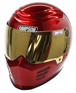 Simpson Outlaw 2 Helmet Snell M2015 Metalic Candee Red Xs-Xxl Uk