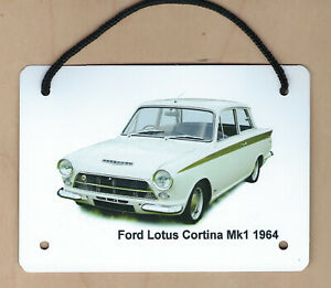 Ford Lotus Cortina Mk1 1964 - Aluminium Plaque A6(105x148mm) - Gift for the Fan