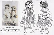 "19-20""ANTIQUE FRENCH BEBE/BRU DOLL@1870's COAT-DRESS DRESS&BONNET PATTERN/GERMAN"