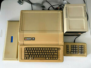 Vintage Apple IIe (2e) Computer w/ 2 Disk Drives + Rare keypad - Tested Working