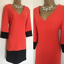 Marks & Spencer's DRESS SIZE 14 Orange Races Evening Party Occasion,