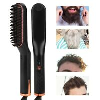 Men Portable Fast Comb Beard Straightener Multifunction Hair Curler Tool
