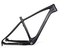 "NEW Carbon Fat Frame Bike 17.5"" Quick Release MTB UD Matt 4.8 190mm Internal 26"""