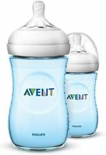 Philips Avent Natural Blue Baby Bottle SCF035/27 Pack of 2 - 2 x 9oz Bottles