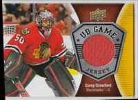 2016-17 Upper Deck Game Jerseys Corey Crawford Jersey 1 Color . #GJ-CC