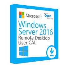 Windows Server 2016 Remote Desktop Client Access Licenses (x50 RDS User CALs)