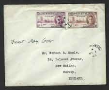 VICTORY : 1946 MONTSERRAT pair on plain First Day Cover
