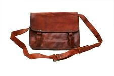 Genuine Leather Handmade Brown Messenger Shoulder Bag Satchel - Laptop tablet 35