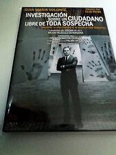 """DVD """"INVESTIGACION SOBRE UN CIUDADANO LIBRE DE TODA SOSPECHA"""" COMO NUEVO PETRI"""