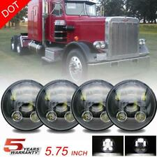 5.75 5 3/4 Round LED Headlights Hi-lo Projector for Peterbilt 359 348 Chevrolet