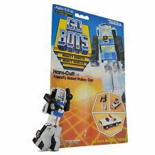 "Vintage TONKA GOBOTS ""HANS-CUFF"" #12 Friendly Robot POLICE CAR + Orig. Card-Back"
