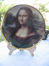 "#8C Vintage Wall dish Mona Lisa porcelaine de Limoges France 9.75"" inches wide"