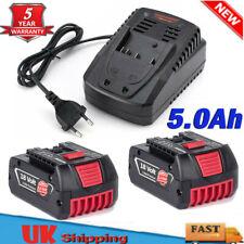18V For Bosch BAT609 BAT618 5000mAh Battery 17618 25618 CAG180B CCS180 & Charger