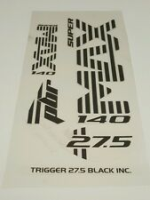 Super Max Sticker Decal Set for Cannondale Lefty PBR Trigger 27.5 Black Inc