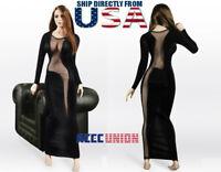 "1/6 Female See-Through Evening Dress For 12"" PHICEN Hot Toys TBLeague Figure USA"