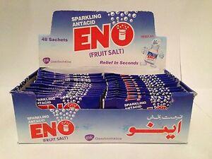 ENO FRUIT SALT 48 SACHETS ORIGINAL FAST REFRESHING RELIEF FREE P&P