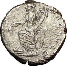 SEPTIMIUS SEVERUS 198AD Ancient Silver Roman Coin ANNONA Galley Wealth i18102