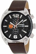 Brand New Diesel DZ4204 Brown Leather Band Chronograph Men's Watch 100M WR