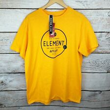 Element Tilly's Exclusive Men's Large T-Shirt, Yellow and Black, Spellout Logo