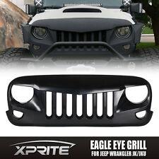 Front Matte Black Eagle Eye Grill Grille Grid for 2007-2017 Jeep Wrangler JK