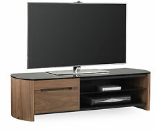 Alphason Finewoods 1350 Cabinet Real Wood Veneer and Glass TV Stand FW1350CB-W