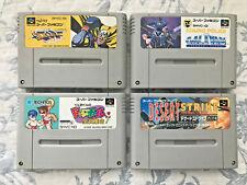 Sonic Blast Man, Cosmo Police: Set of 4 Nintendo Super Famicom (SFC) JP Games!