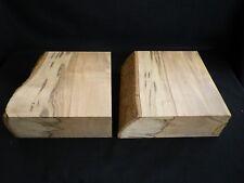x2 Black Heart Sassafras bowl blanks, Tasmanian Timber wood turning blocks