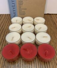 Partylite Mix Box Tealight Candles 9 French Vanilla / 3 Country Apple