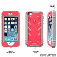 Case For iPhone SE / 5S / 5 Poetic【Revolution】w/ Built-In Screen Protector Pink