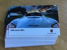 """Porsche Boxster """"1956 meets 2001"""" Postcard 7""""x 4-1/2"""" 10 Pack"""