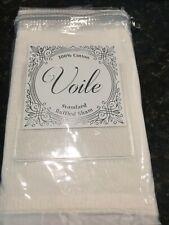 """New Cotton Voile Euro Ruffled Pillow Sham in White 26"""" x 20"""" European Ivory"""