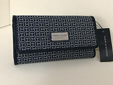 NEW ARRIVAL! TOMMY HILFIGER BLUE CONTINENTAL CHECKBOOK CLUTCH PURSE WALLET $39