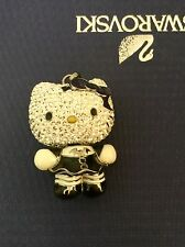 Authentic Swarovski Hello Kitty Gothic Necklace Crystal Authentic With Box