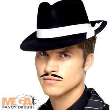 Al Capone Cappello Nero da Uomo Costume 1920s Adulti Gangster 20s  Accessorio Costume 26d5cb9c68e8