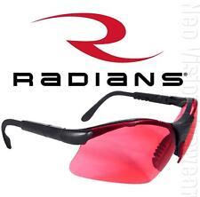 Radians Revelation Vermilion Red Lens Safety Glasses Sun Ratchet Temples Z87.1