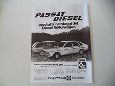 advertising Pubblicità 1979 VOLKSWAGEN PASSAT DIESEL