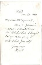 William Stubbs - Bishop of Oxford - original 1884 letter as Bishop of Chester