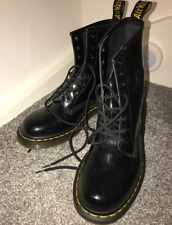Dr Martens 8 Eye Black Patent Leather Boots UK Size 6 - Hardly Worn