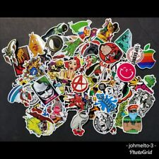 100 - Pack Laptop Stickers Supreme Vinyl Skateboard Phone Decals iPhone