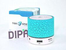 Cassa TeKone TO-BT05 Mini Speaker Bluetooth Wireless Luce Led Microsd Blu hsb