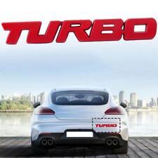 Car Auto Red Metal 3D Turbo Letter Emblem Badge Logo Sticker Decal Fender Body
