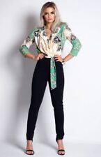 Paisley V Neck 3/4 Sleeve Jumpsuits & Playsuits for Women