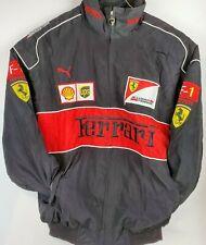 Puma Ferrari Formula 1 Scuderia Black Puffy Jacket Bridgestone UPS Shell XL