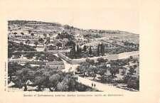 Jerusalem Israel Gardens of Gethsemane Scenic View Antique Postcard J46455