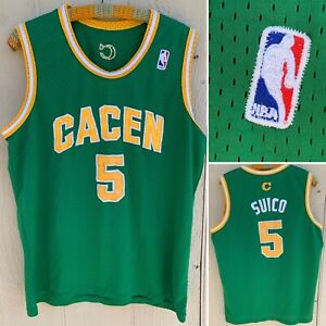 Basketball Jersey Front: CACEN 5 Back: C SUICO 5 NBA Logo On Front Mesh