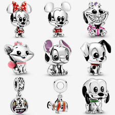 Authentic 100% Silver Pluto Charm Lilo Stitch 101 W4Pandora Minnie Mickey Mouse